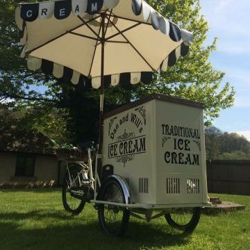 Dan and Wills Ice Cream Bike Popcorn Cart
