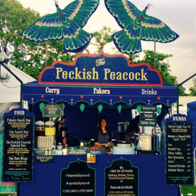 The Peckish Peacock, Festival caterer of the year 2018 Dinner Party Catering