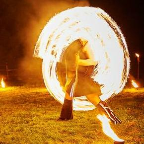 Juggling Inferno Stilt Walker