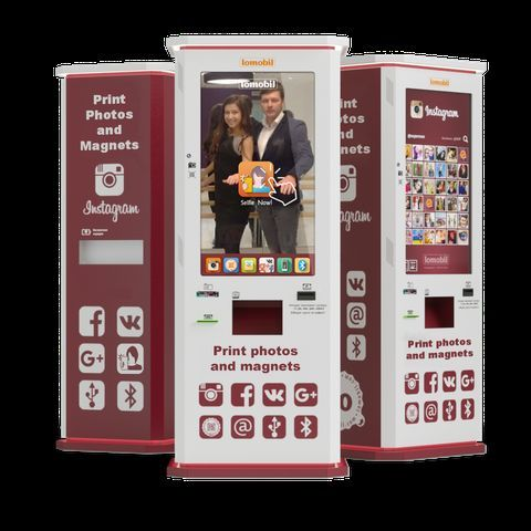 Lomobil - Innovative Photo booth - Kiosk of Instant Print on magnets and polaroids Photo Booth