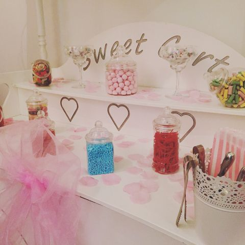 The Little White Cart Company Sweets and Candy Cart
