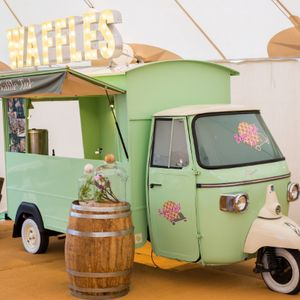 Belgian Waffle Tuk Ice Cream Cart