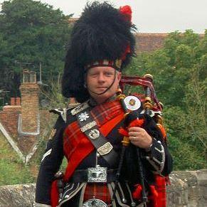 Ivan Brooks, the Kent Piper Bagpiper