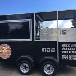 BBQ catering trailer Caribbean Catering