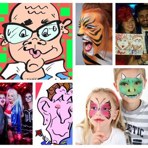 Derby Face And Body Painting Caricaturist